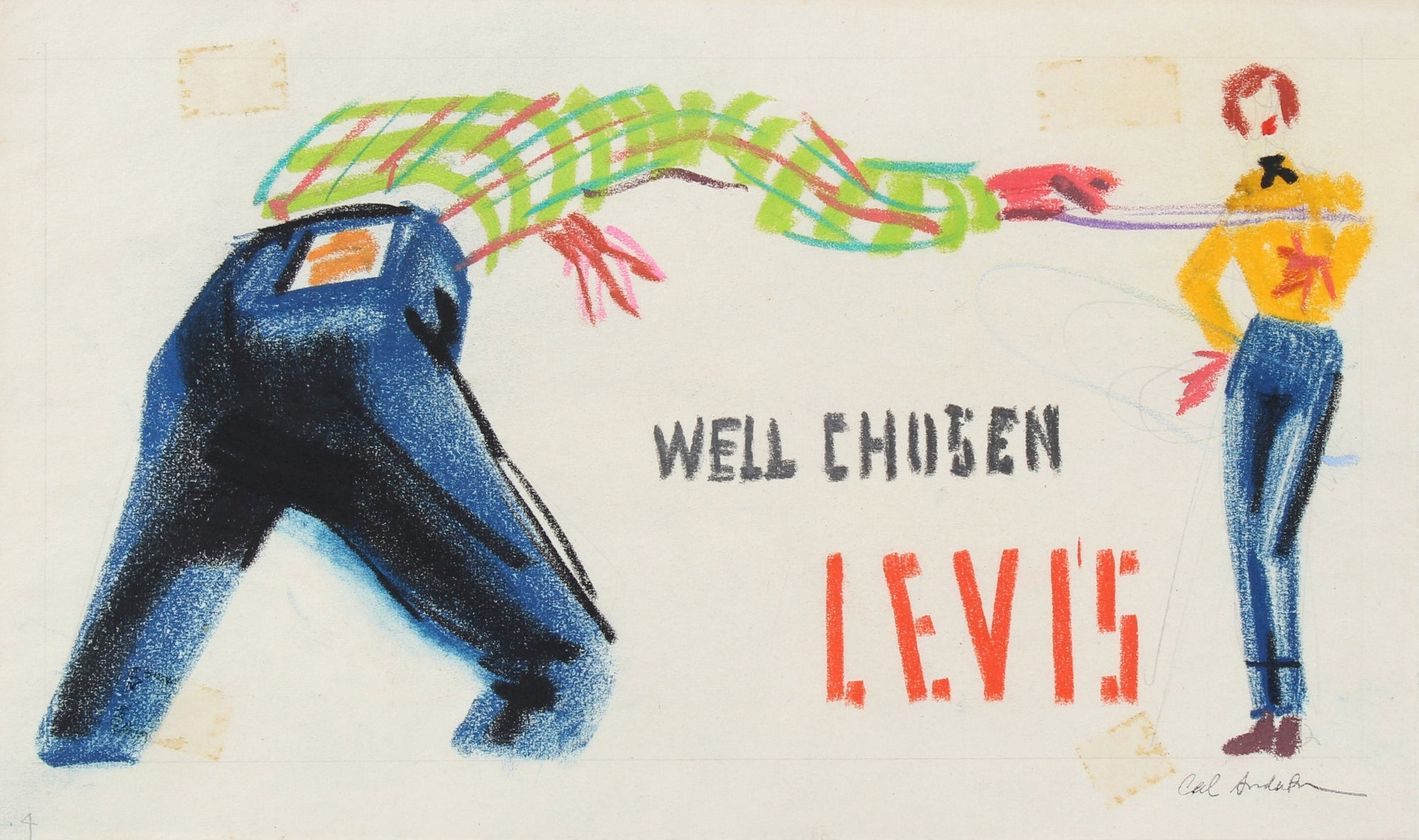<i>Well chosen, Levi's</i> <br>Mid 20th Century Pastel <br><br>#97751