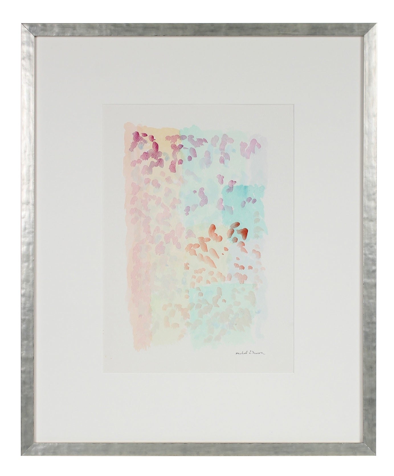 Pastel Pointillism<br>1963 Watercolor<br><br>#98095