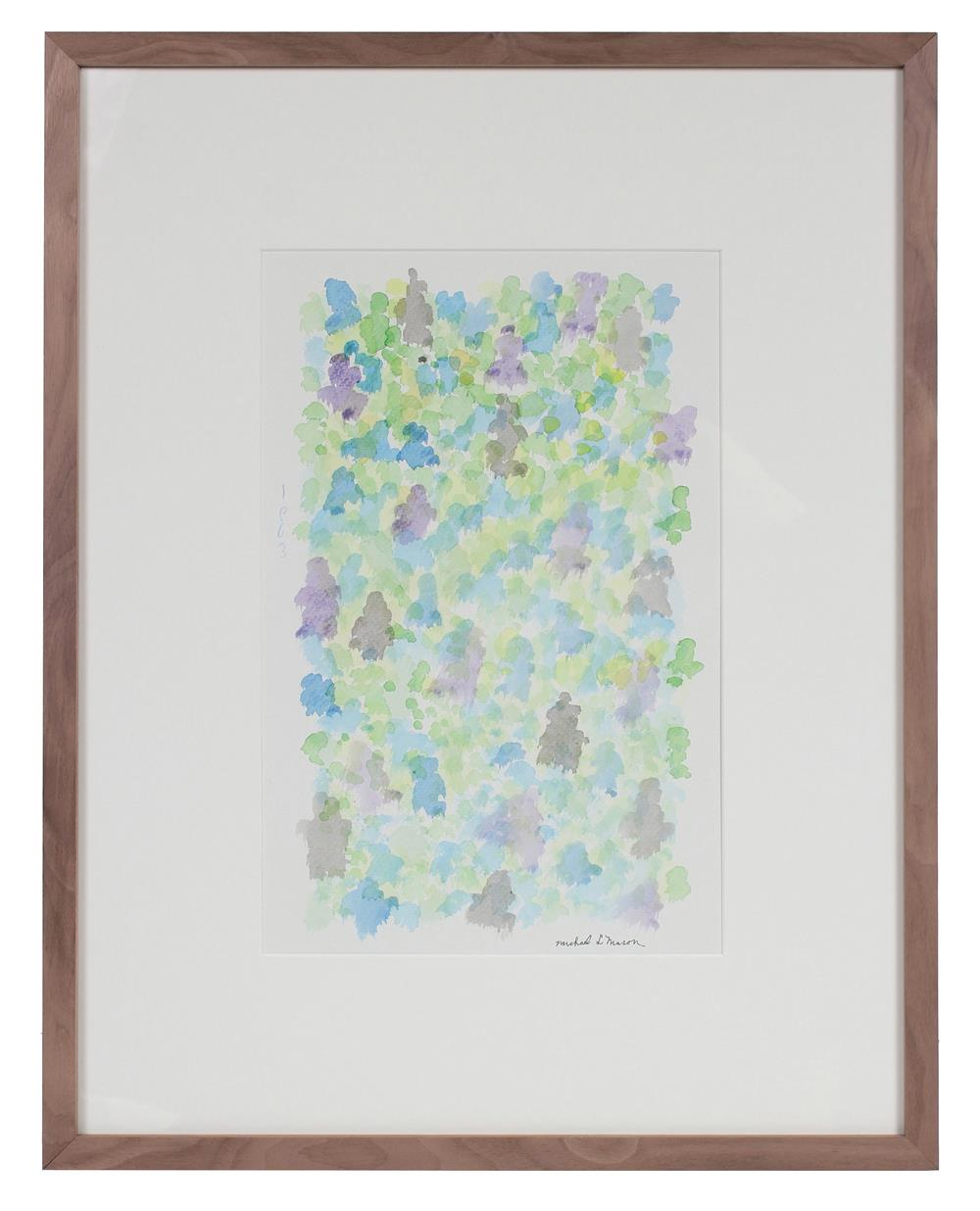 Purple & Green Color Field<br>1963 Watercolor<br><br>#98096
