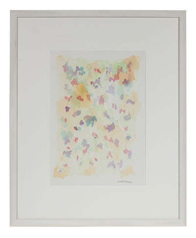 Pale Floral Abstraction<br>1963 Watercolor<br><br>#98106
