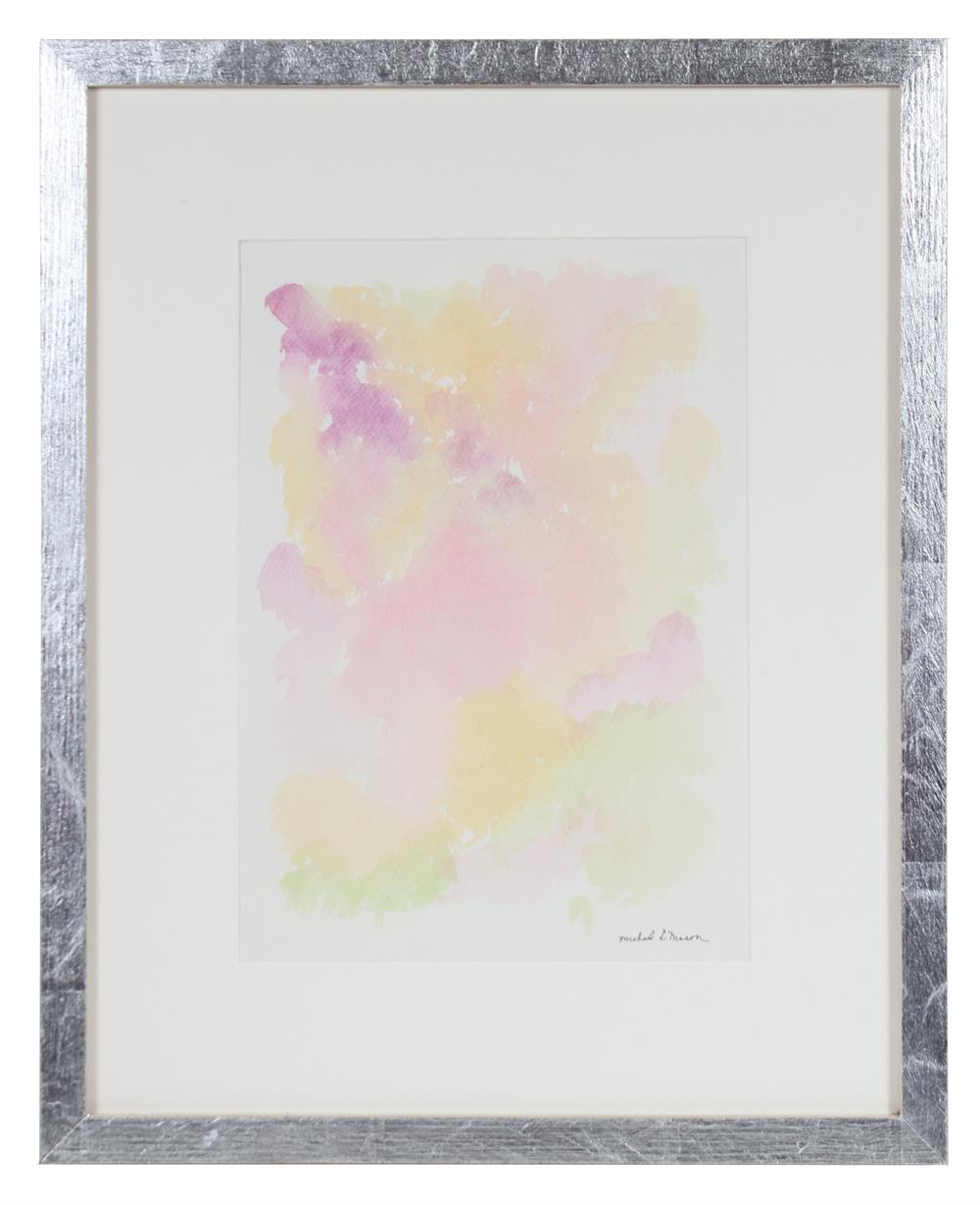 Sunny Floral Abstraction<br>1963 Watercolor<br><br>#98108