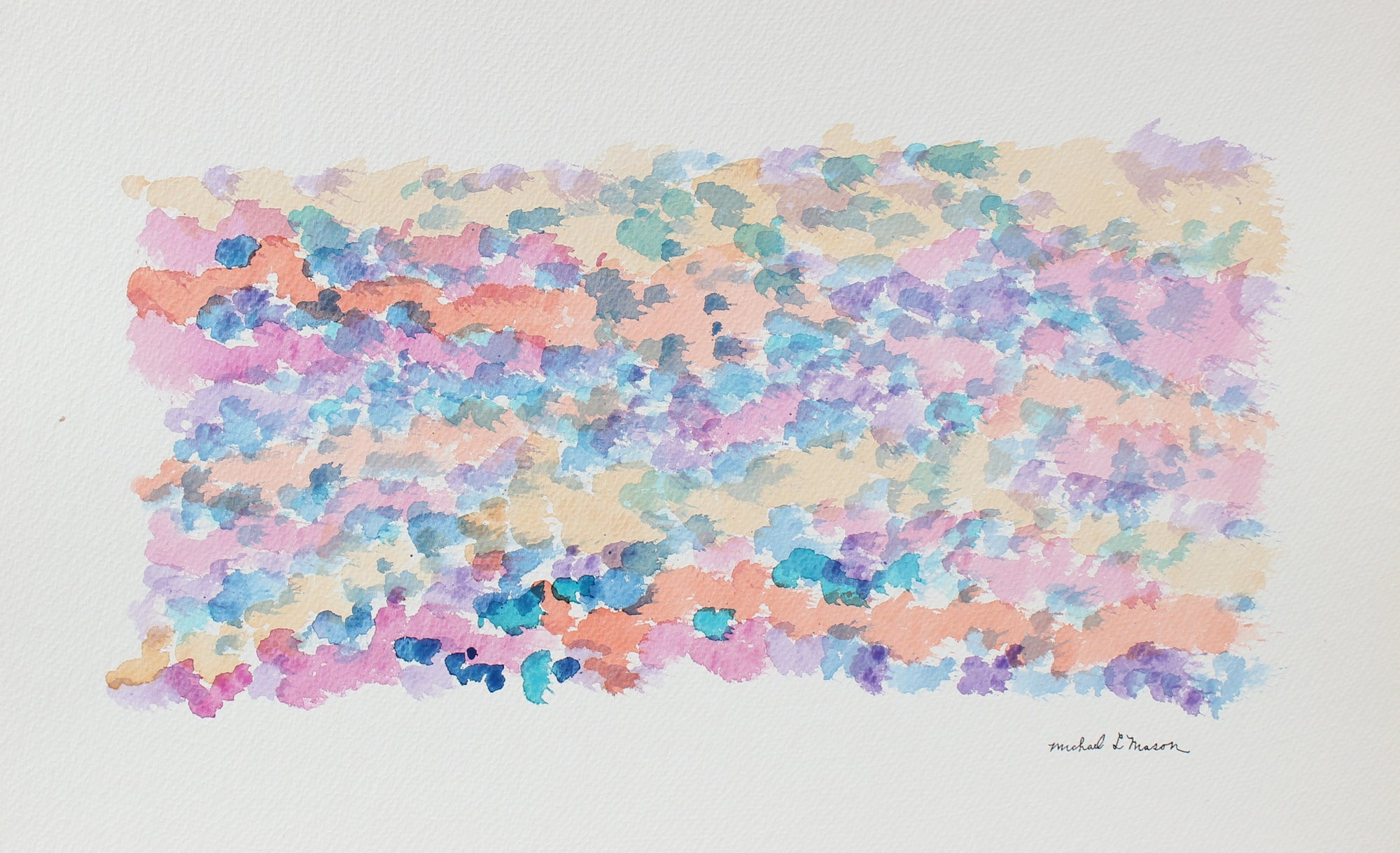 Delicate Horizontal Color Study <br>1963 Watercolor <br><br>#98112