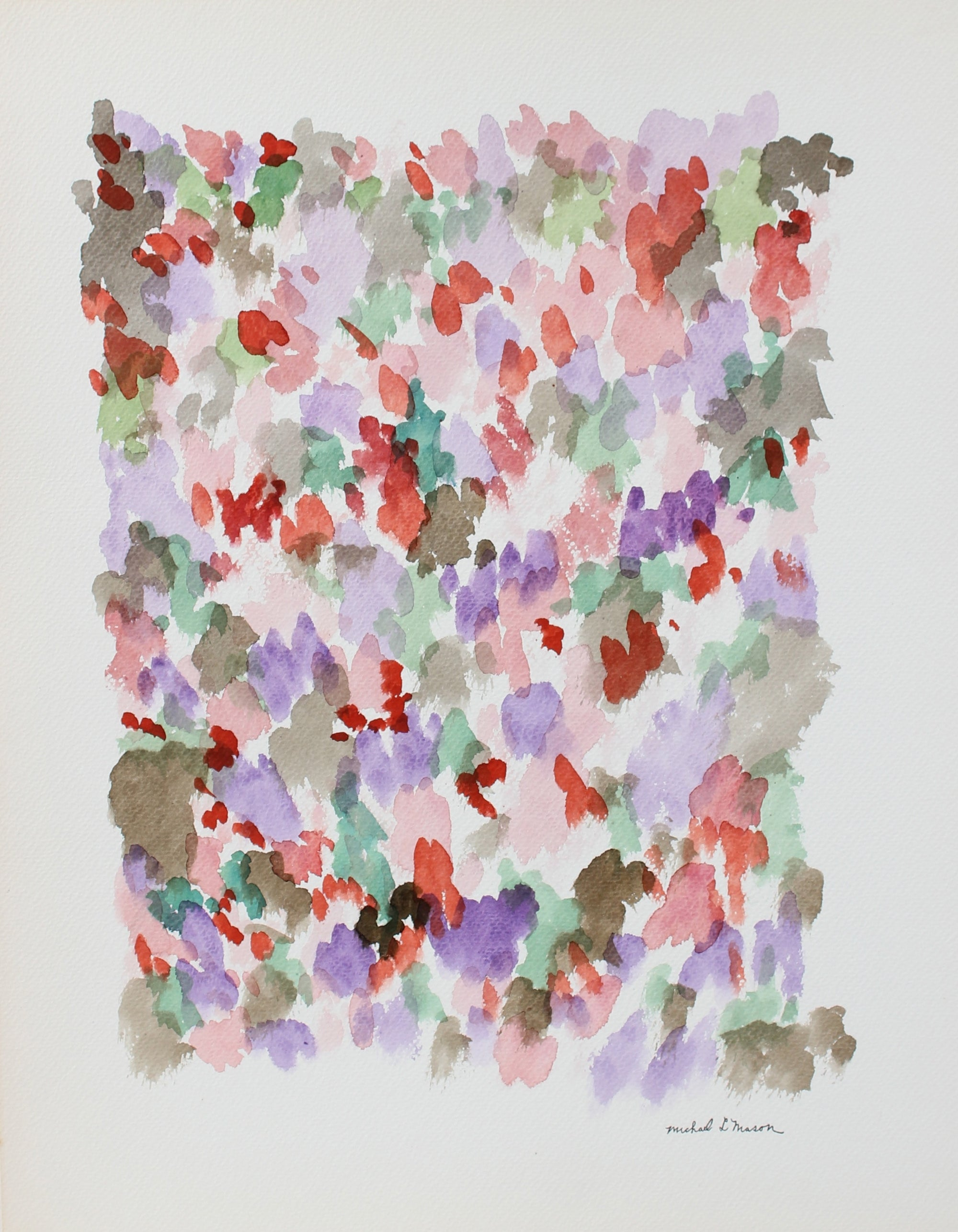 Abstracted Floral Color Field<br>1963 Watercolor<br><br>#98117