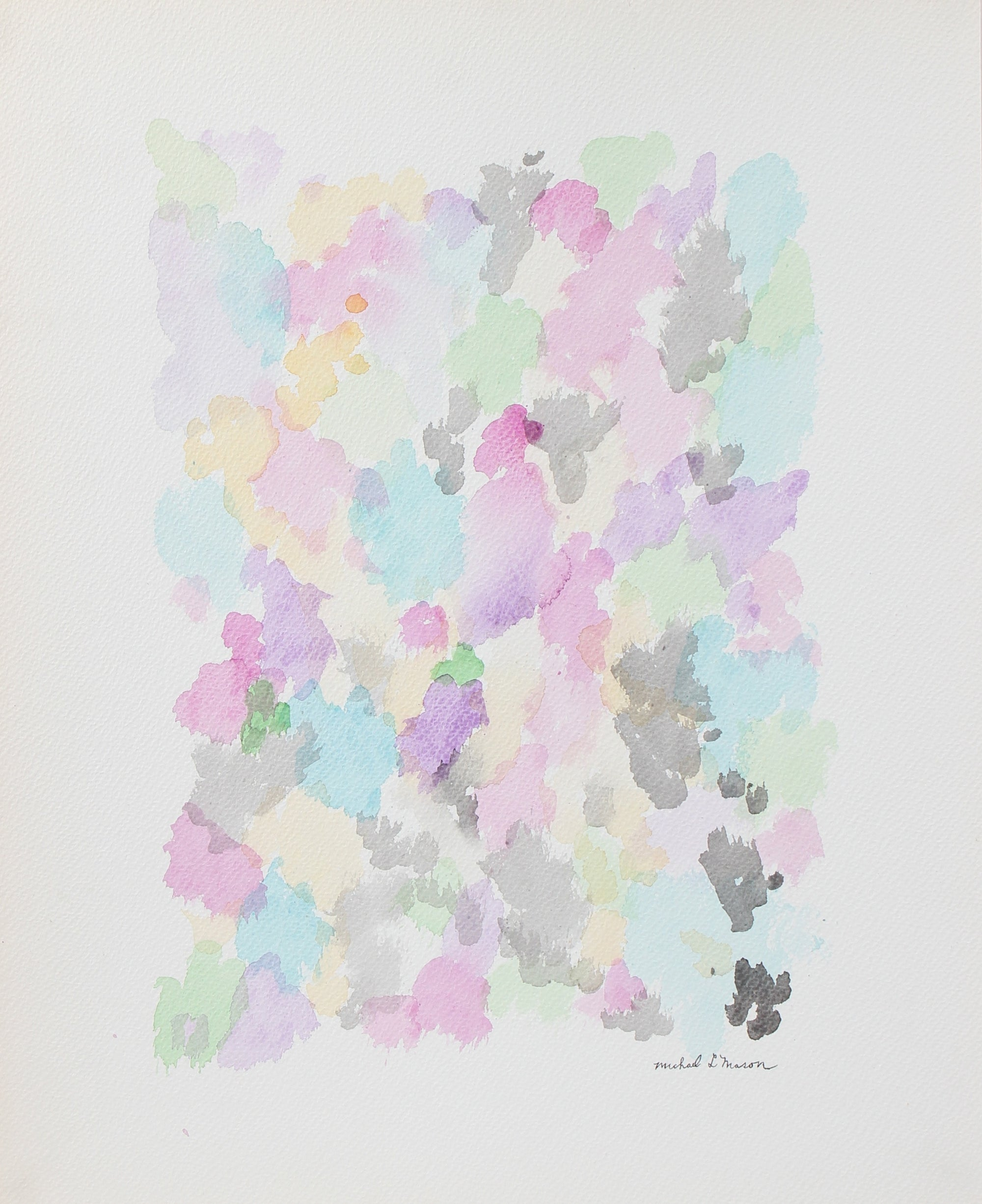 Serene Floral Pastel Abstract <br>1963 Watercolor <br><br>#98120