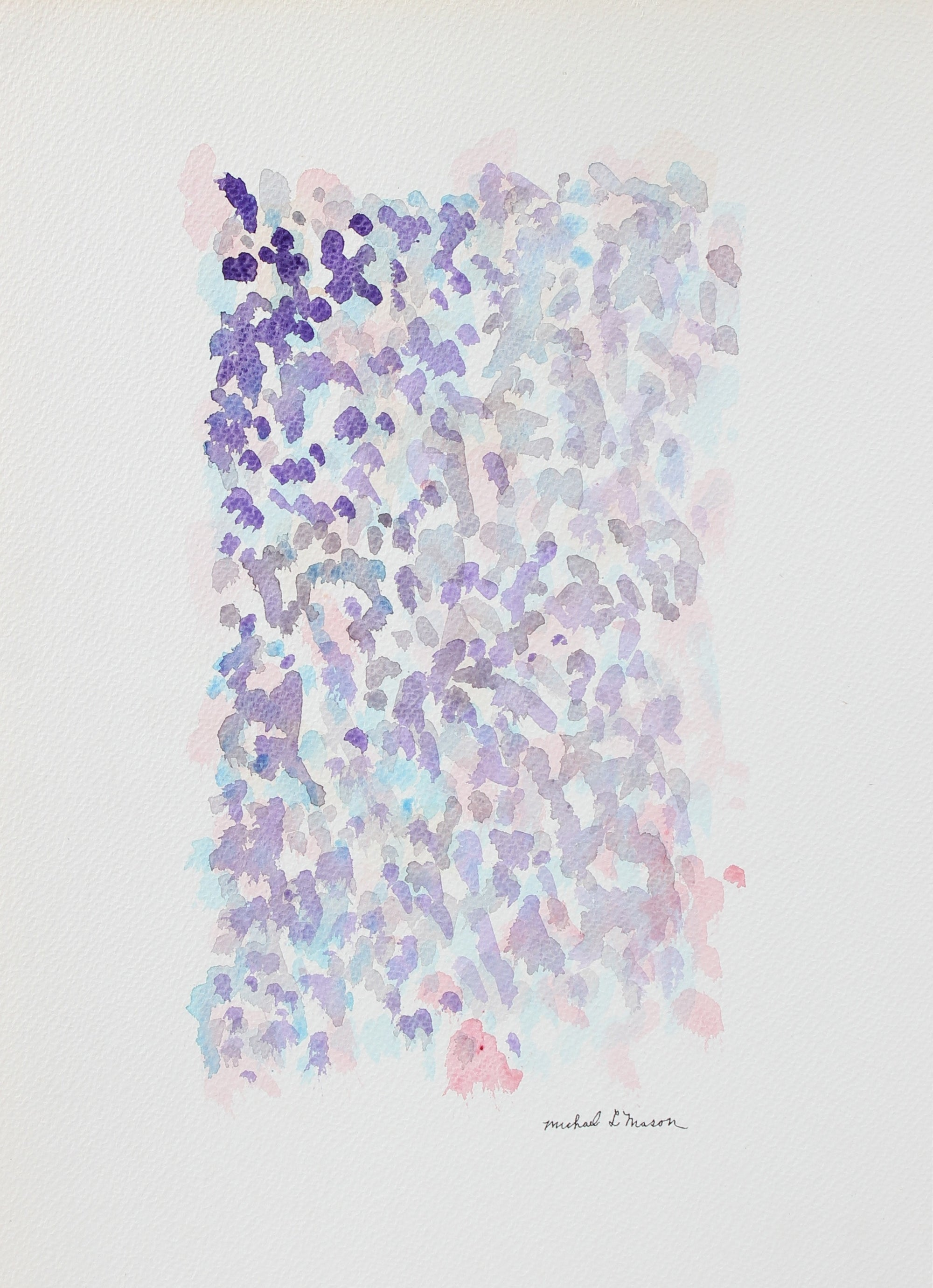 Lavender Floral Color Study <br>1963 Watercolor <br><br>#98130