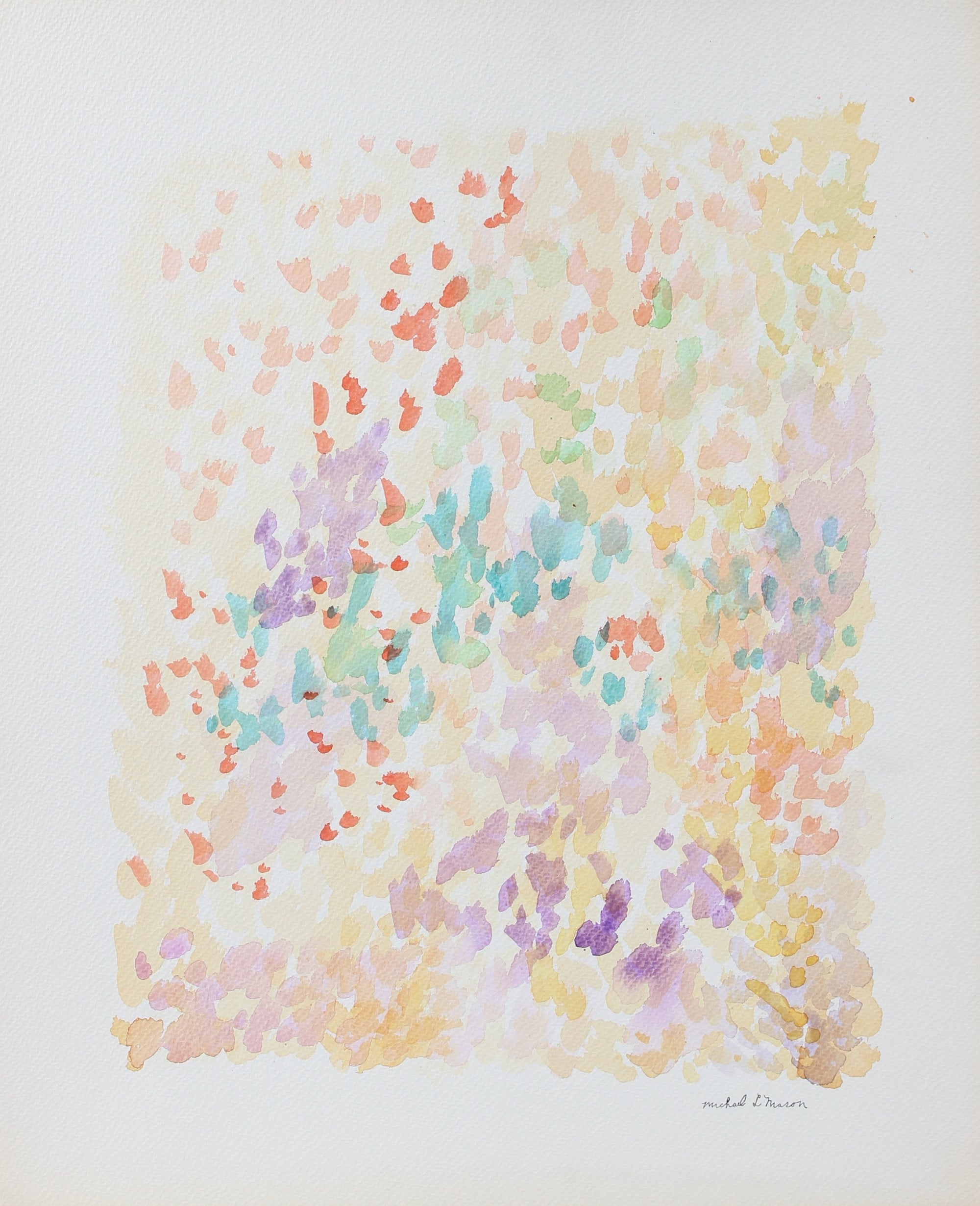 Pastel Pointillism Deconstruction<br>1963 Watercolor<br><br>#98131