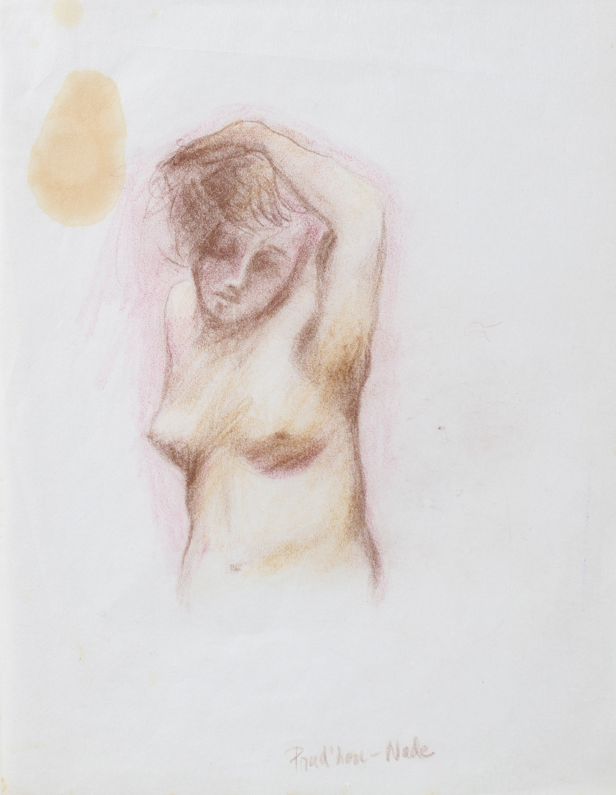 Dreamy Colored Pencil Nude<br>Mid-Late 20th Century<br><br>#98142