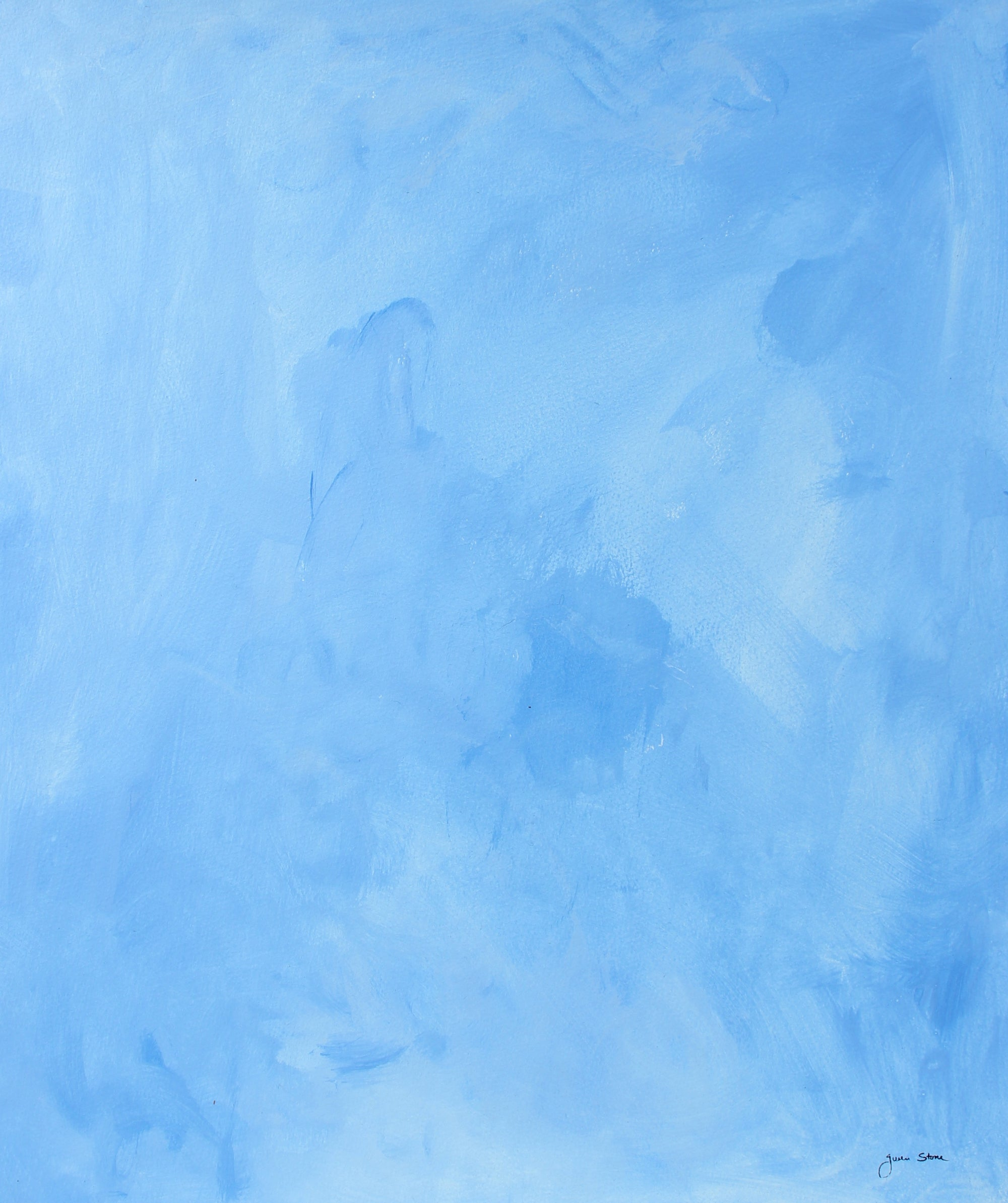 Baby Blue Abstract <br>20th Century Gouache <br><br>#98172