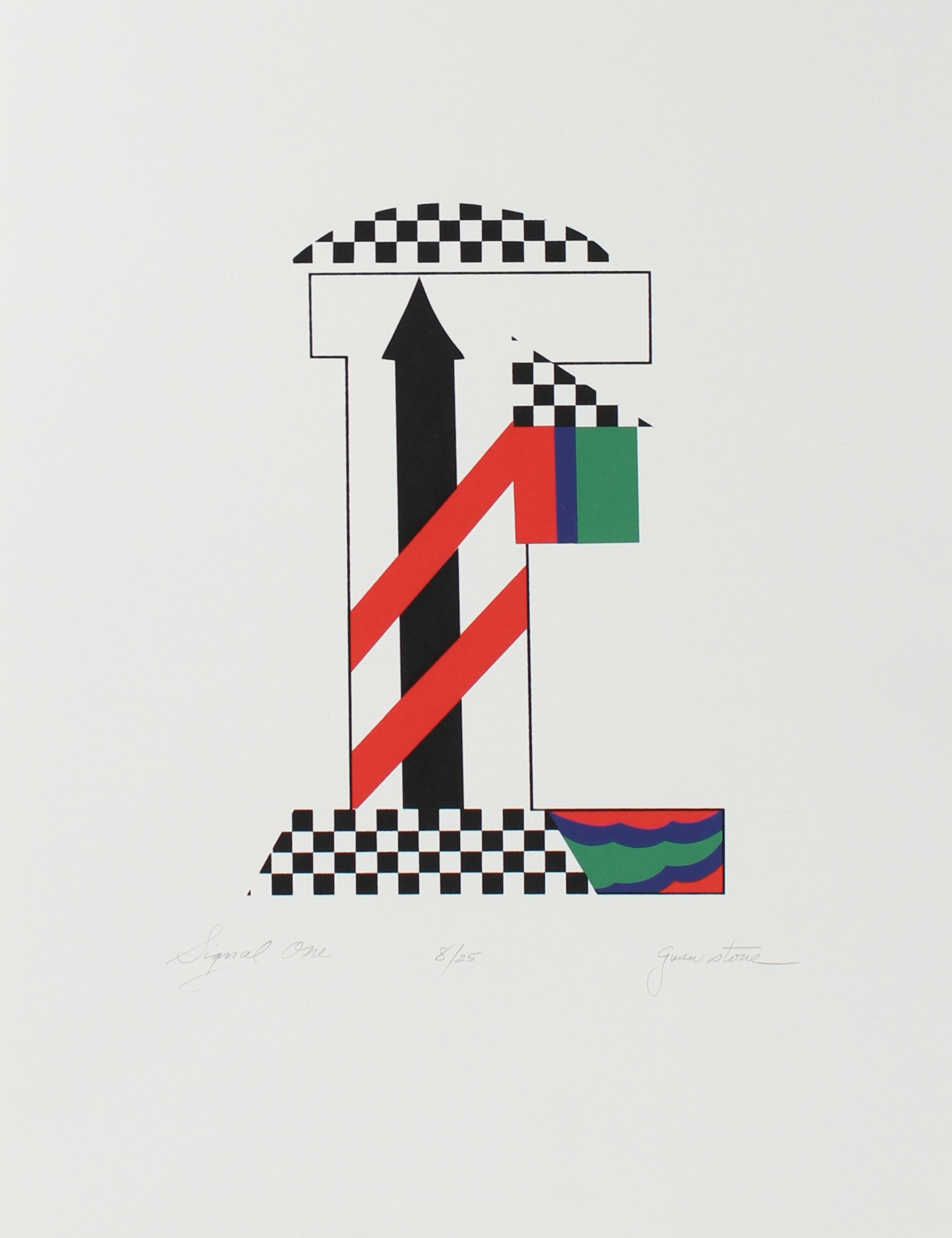 <i>Signal One</i><br>1978 Serigraph<br><br>#98173
