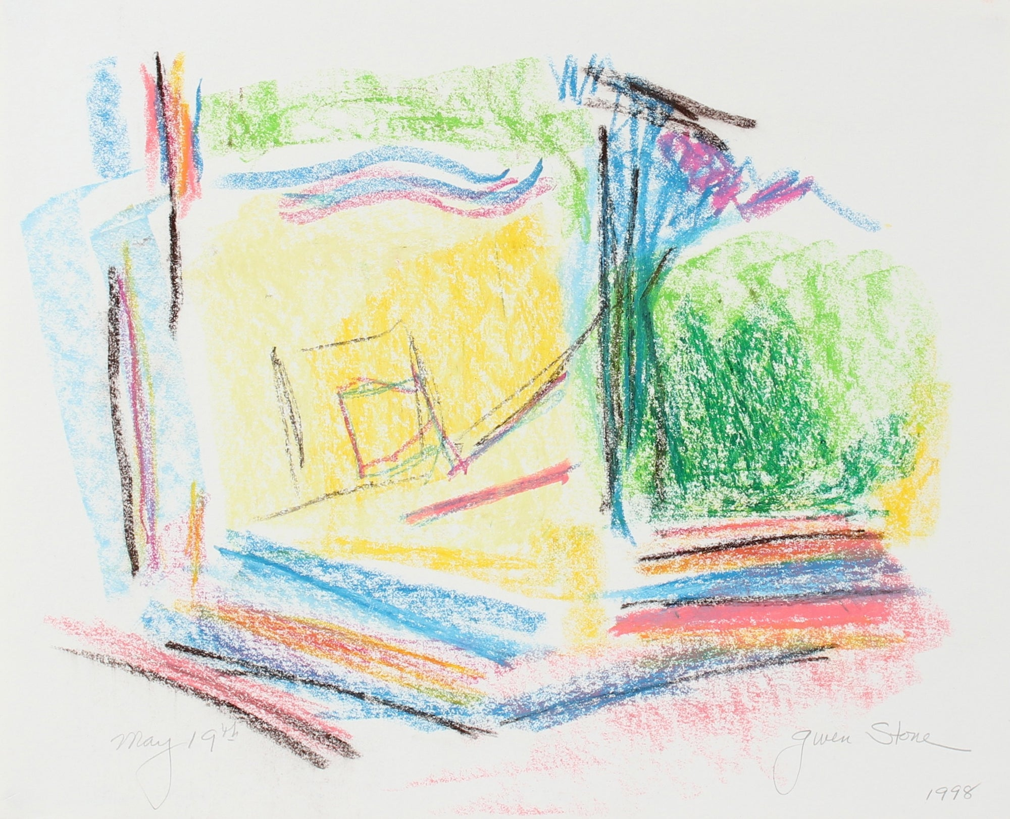 <i>May 19th</i><br>1998 Pastel Abstract<br><br>#98174
