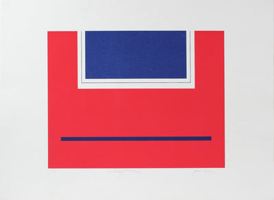 <i>Military Red</i> <br>Late 20th Century Serigraph <br><br>#98176