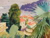 <i>Mediterranean Landscape</i> <br>Mid-Late 20th Century Watercolor <br><br>#98628