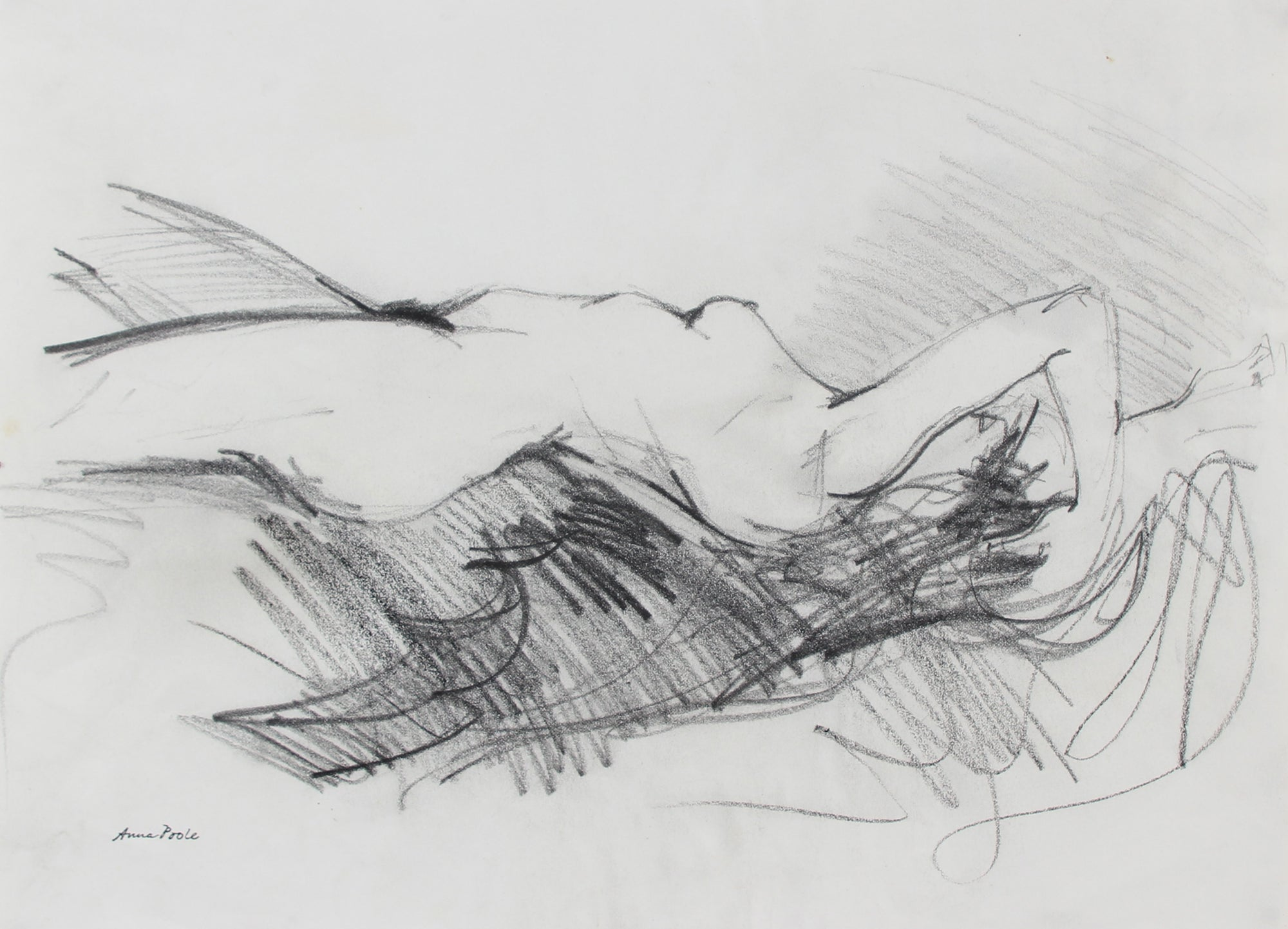 Nude Figure Study <br>Late 20th Century Graphite <br><br>#98938