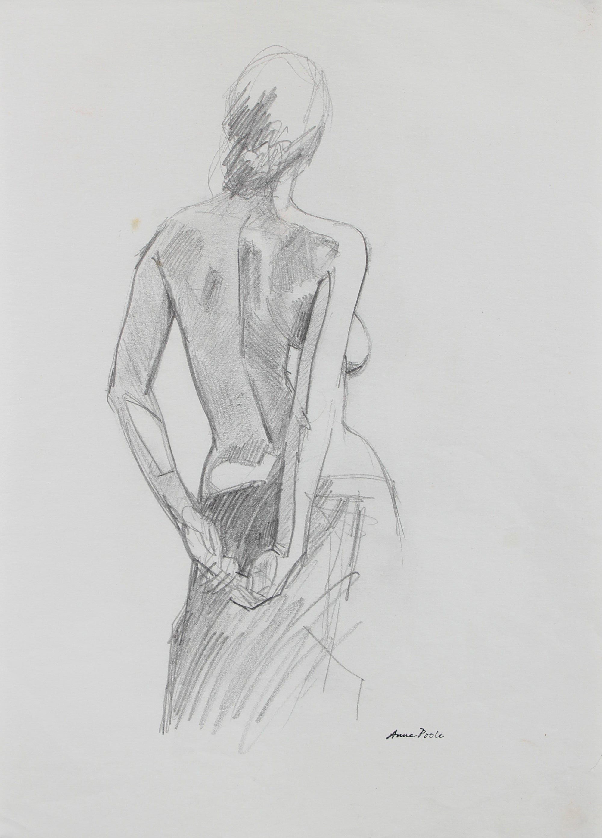Torso Study - Female<br>Late 20th Century Graphite<br><br>#98960