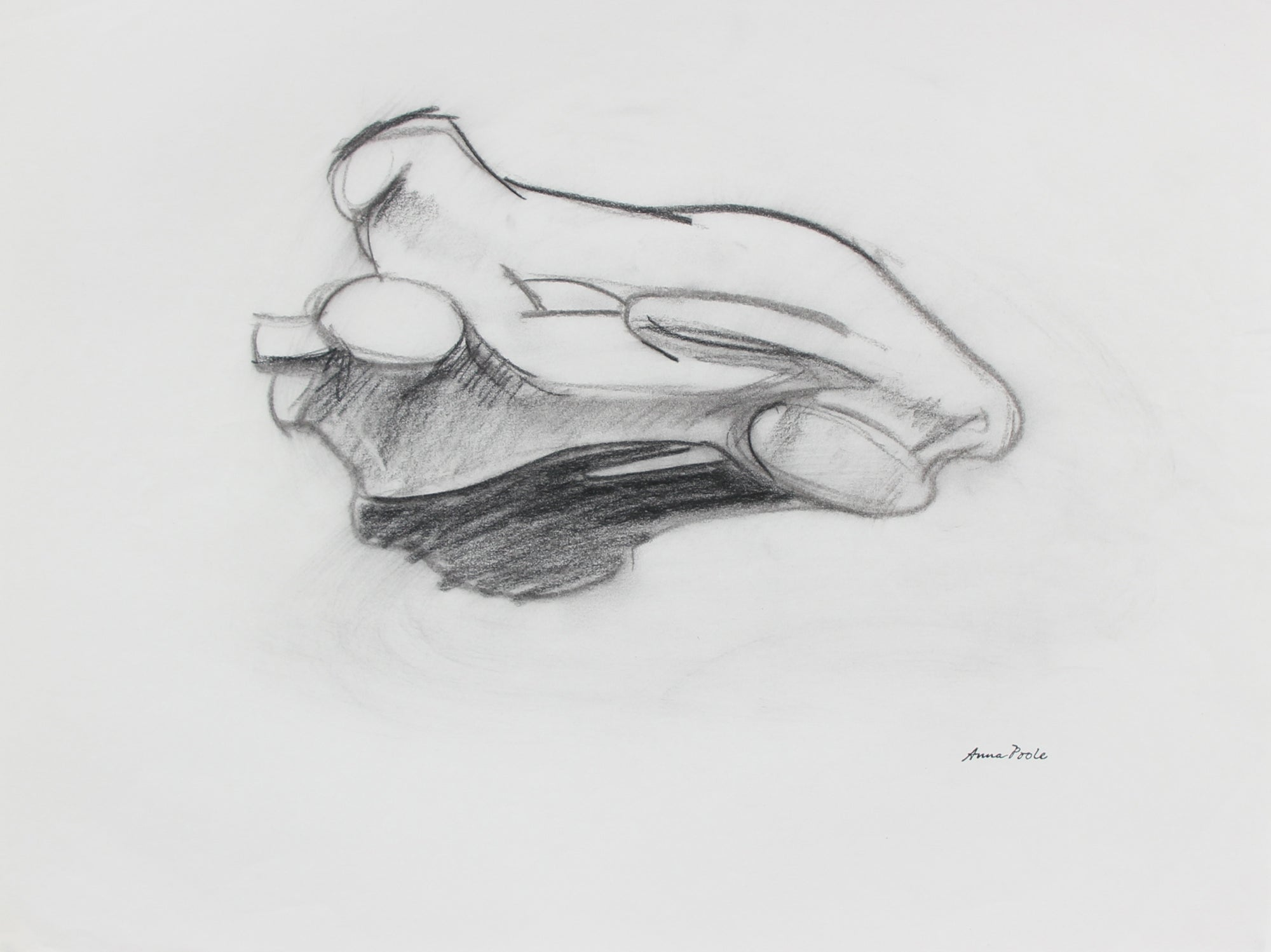 Abstracted Model Study <br>Late 20th Century Charcoal <br><br>98976