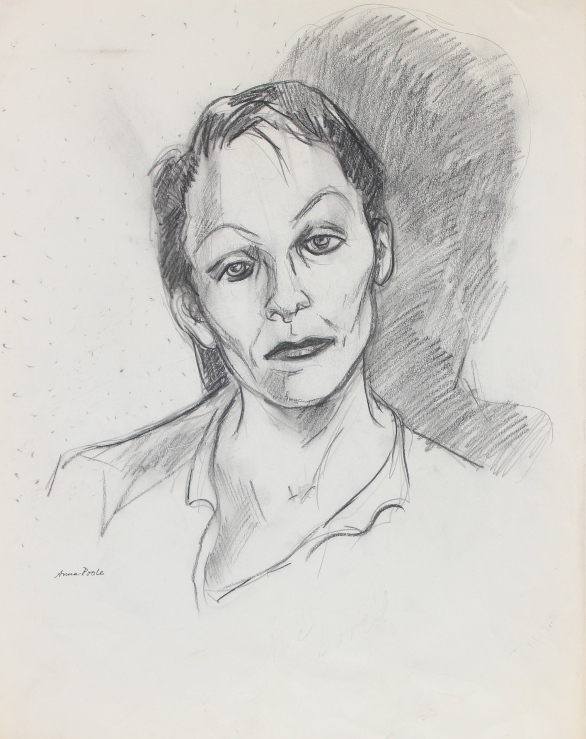 <I>The Bored</I> <br>Late 20th Century Charcoal and Graphite <br><br>#98985