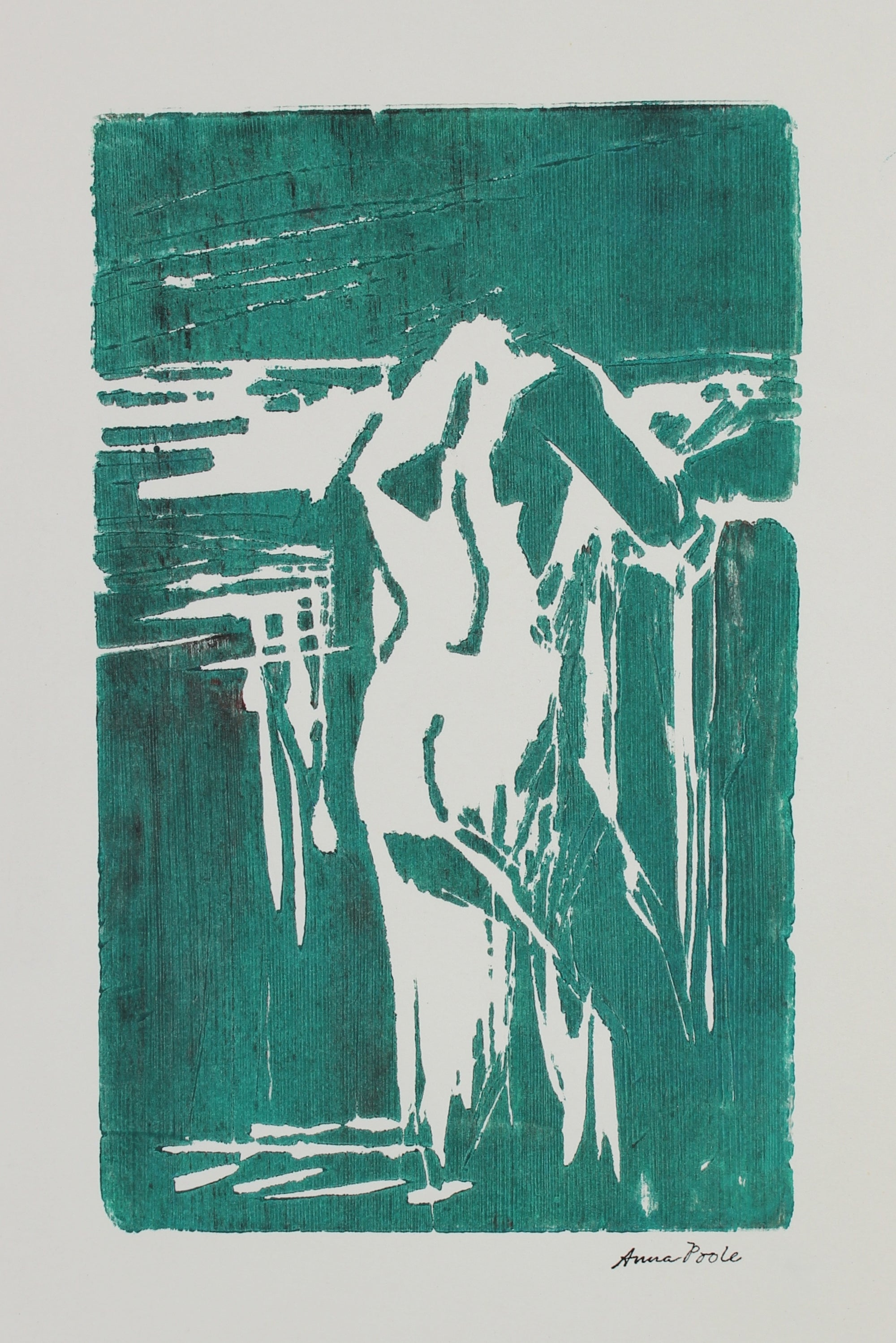 Nude Figure Study<br>Late 20th Century Woodblock<br><br>#99134
