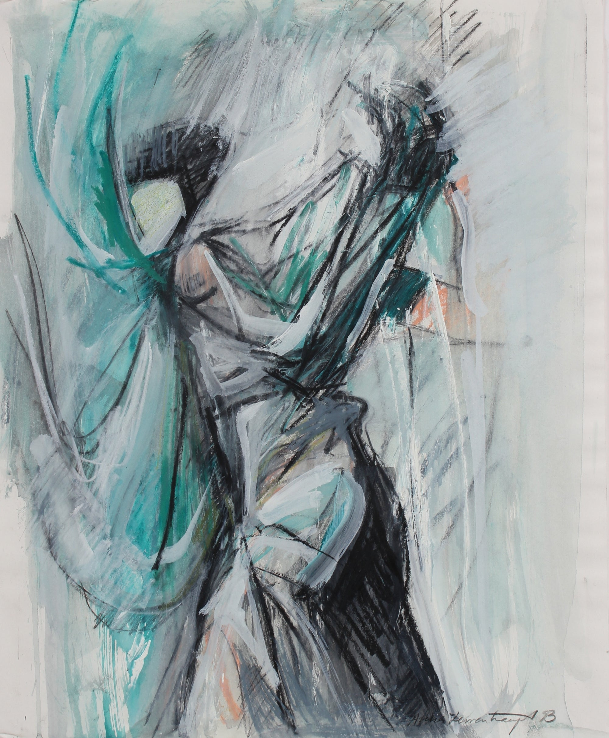 Abstract Cool Drawing <br>1993 Gouache, Pastel, Charcoal, and Graphite <br><br>99154