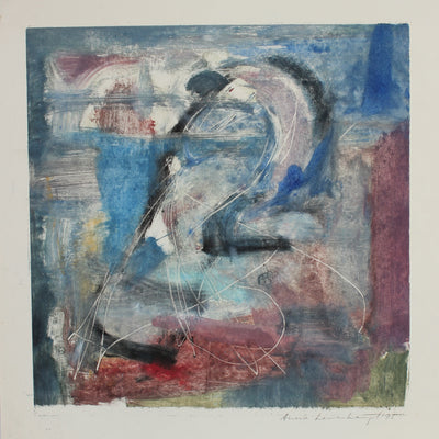 Muted Abstracted Color Study<br>1995 Mixed Media Monotype<br><br>#99164