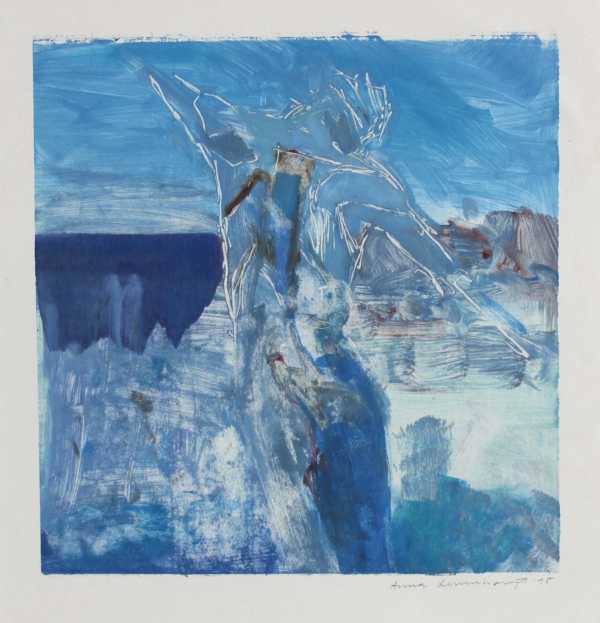 Figure & Form Abstraction - Blue<br>1995 Monotype<br><br>#99179