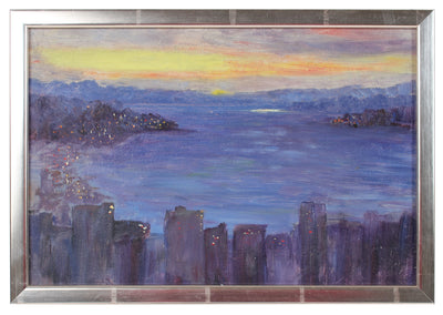 Sunset in Seattle<br>1900-30s Oil on Paper Board<br><br>99259
