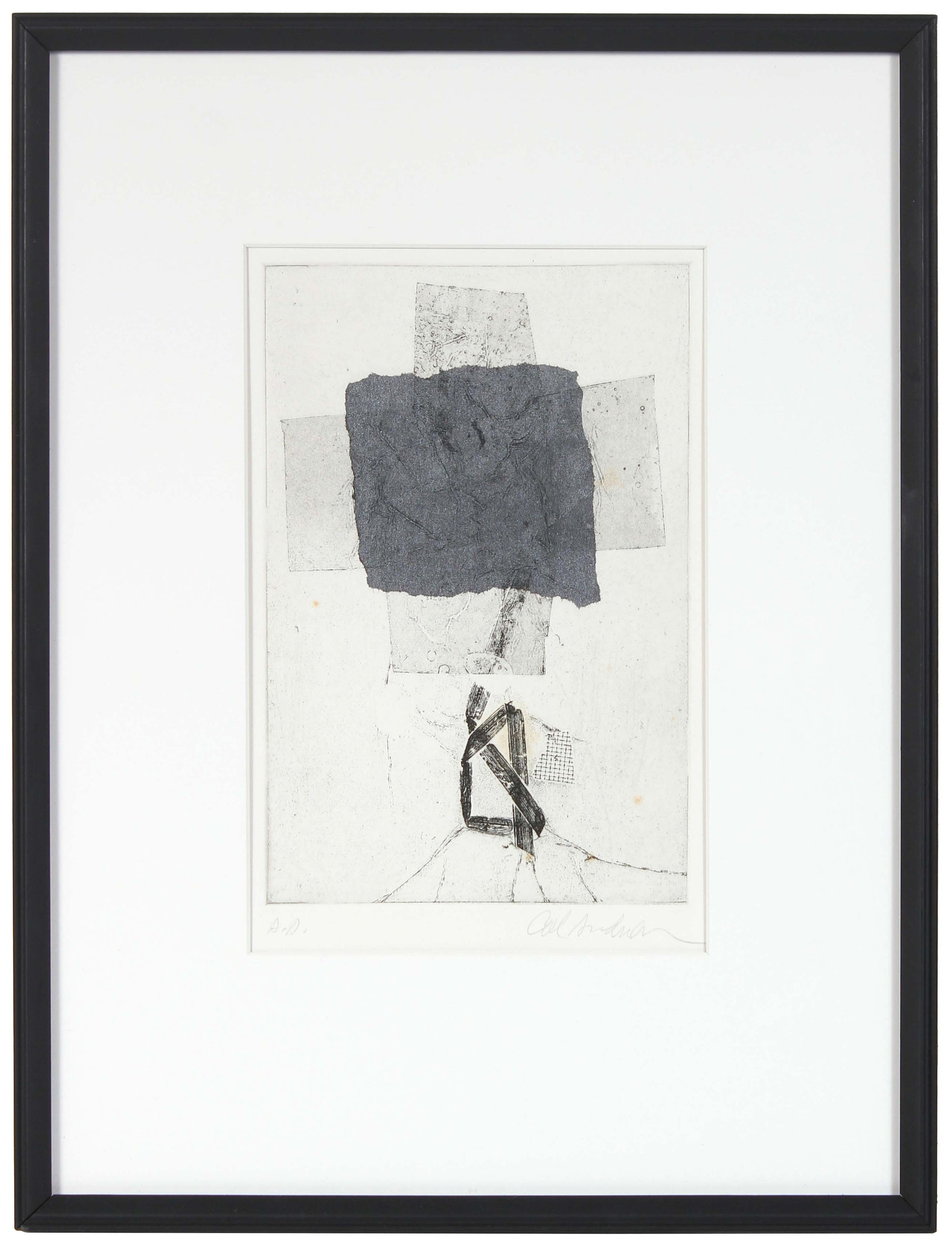 Monochromatic Abstract Print<br>20th Century Monotype and Etching<br><br>#99649