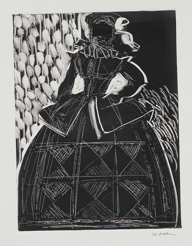 Abstracted Figure in Costume <br>1990-2000s Monotype <br><br>#99660