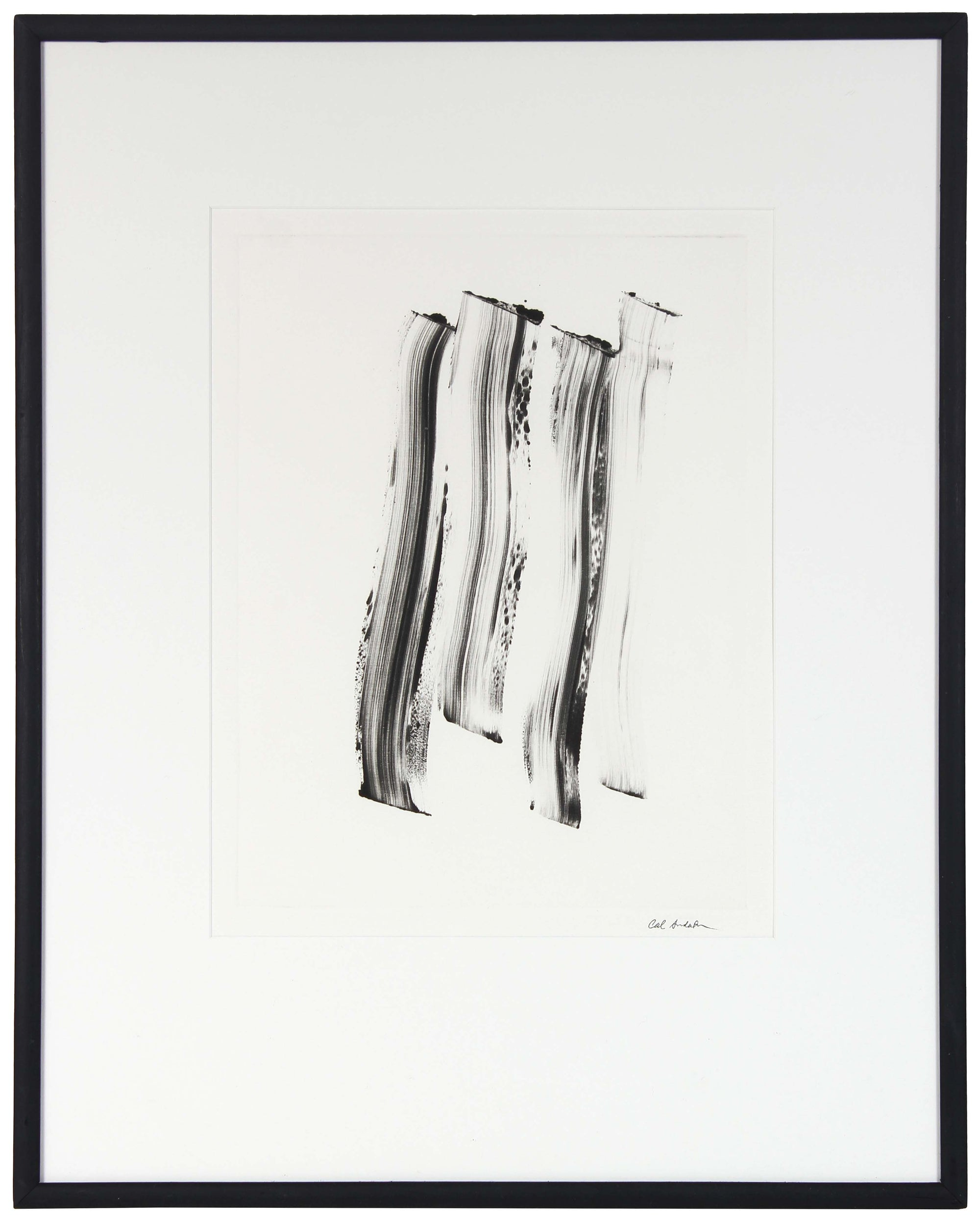 Monochromatic Abstract<br>Late 20th Century Monotype<br><br>#99662