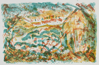 Unraveled House & Sky <br>1953 Lithograph <br><br>#99803
