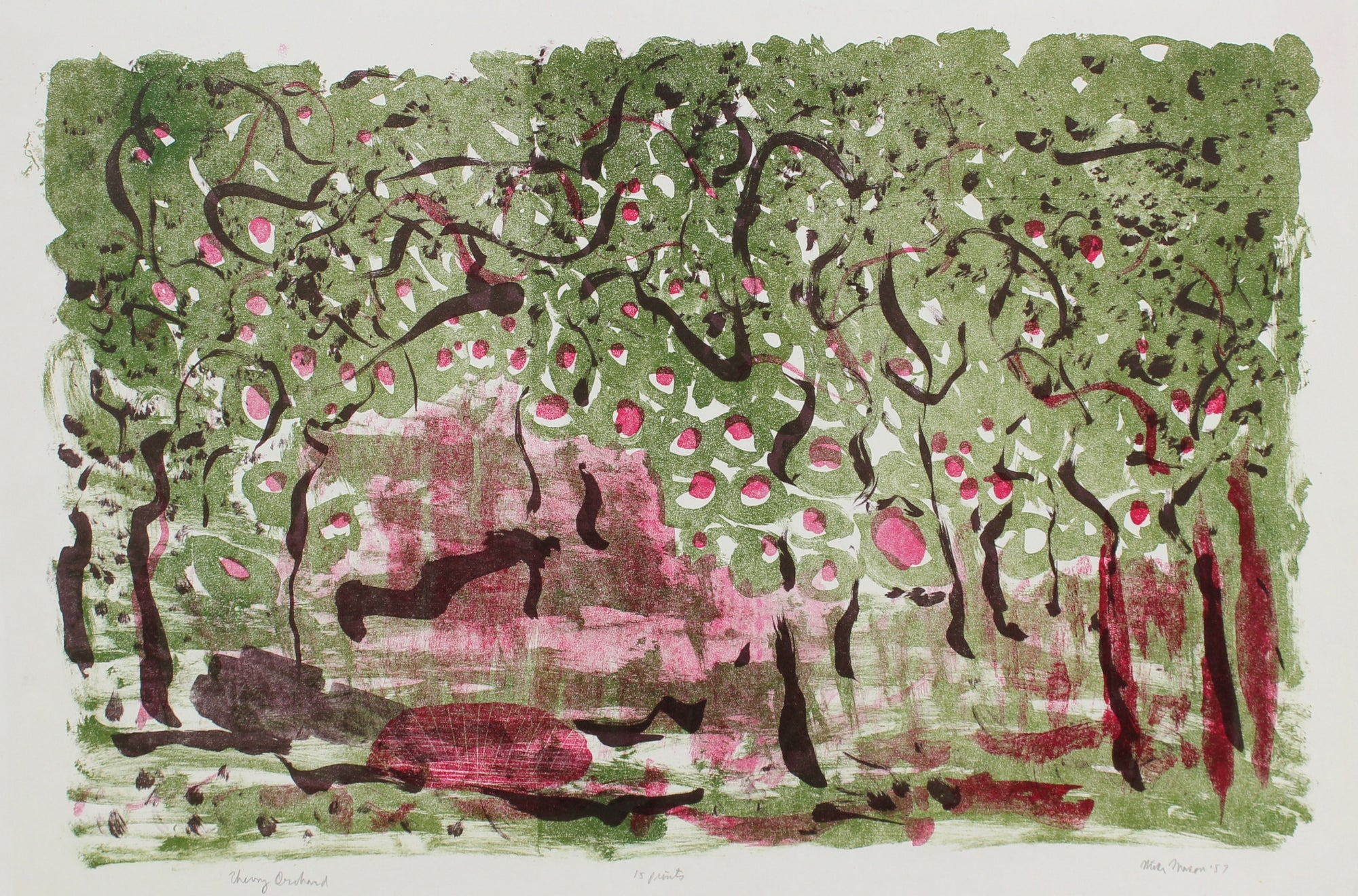 <i>Cherry Orchard</i><br>1957 Lithograph<br><br>#99812
