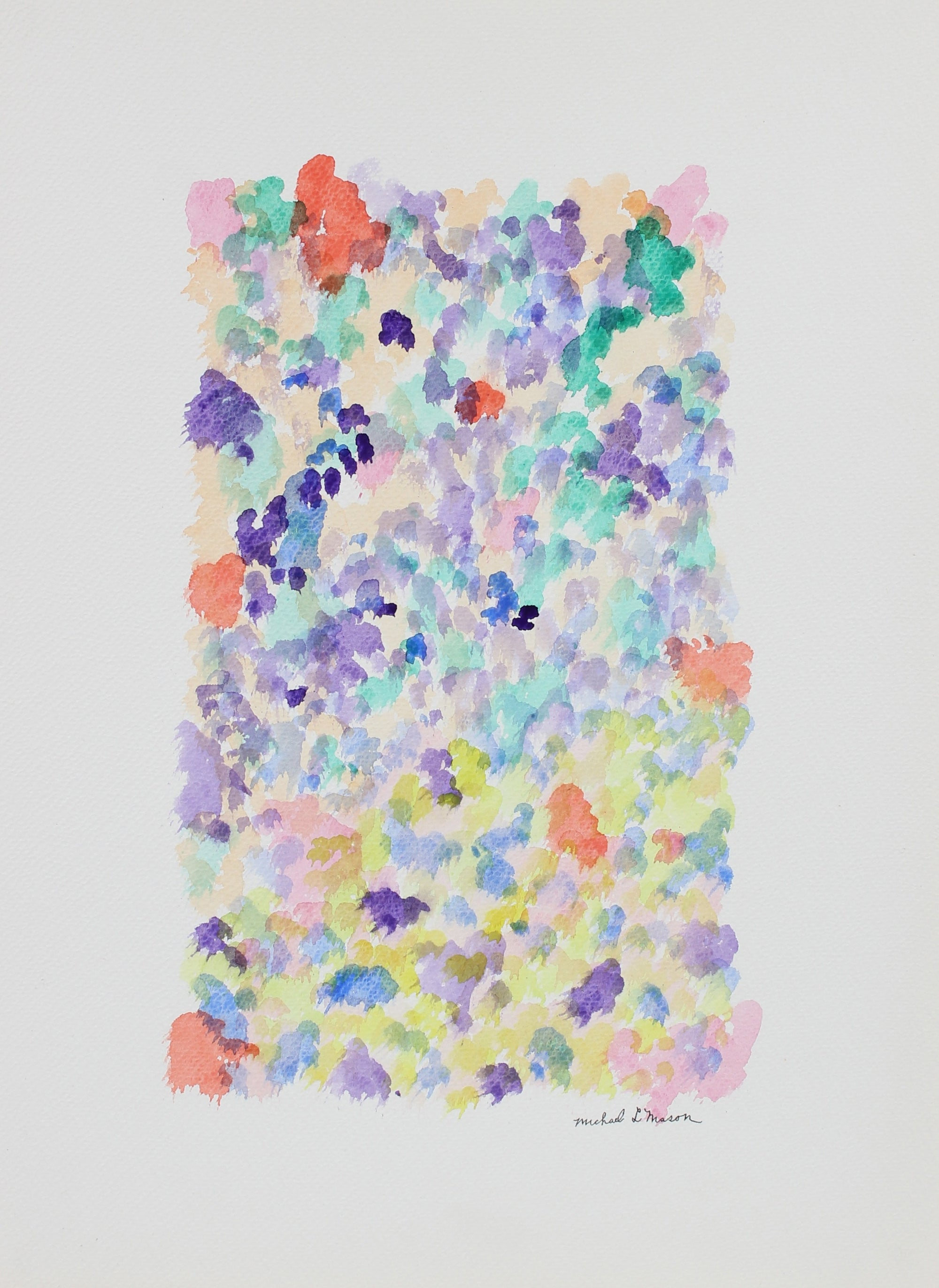 Colorful Minimal Abstract<br>1963 Watercolor<br><br>#99825