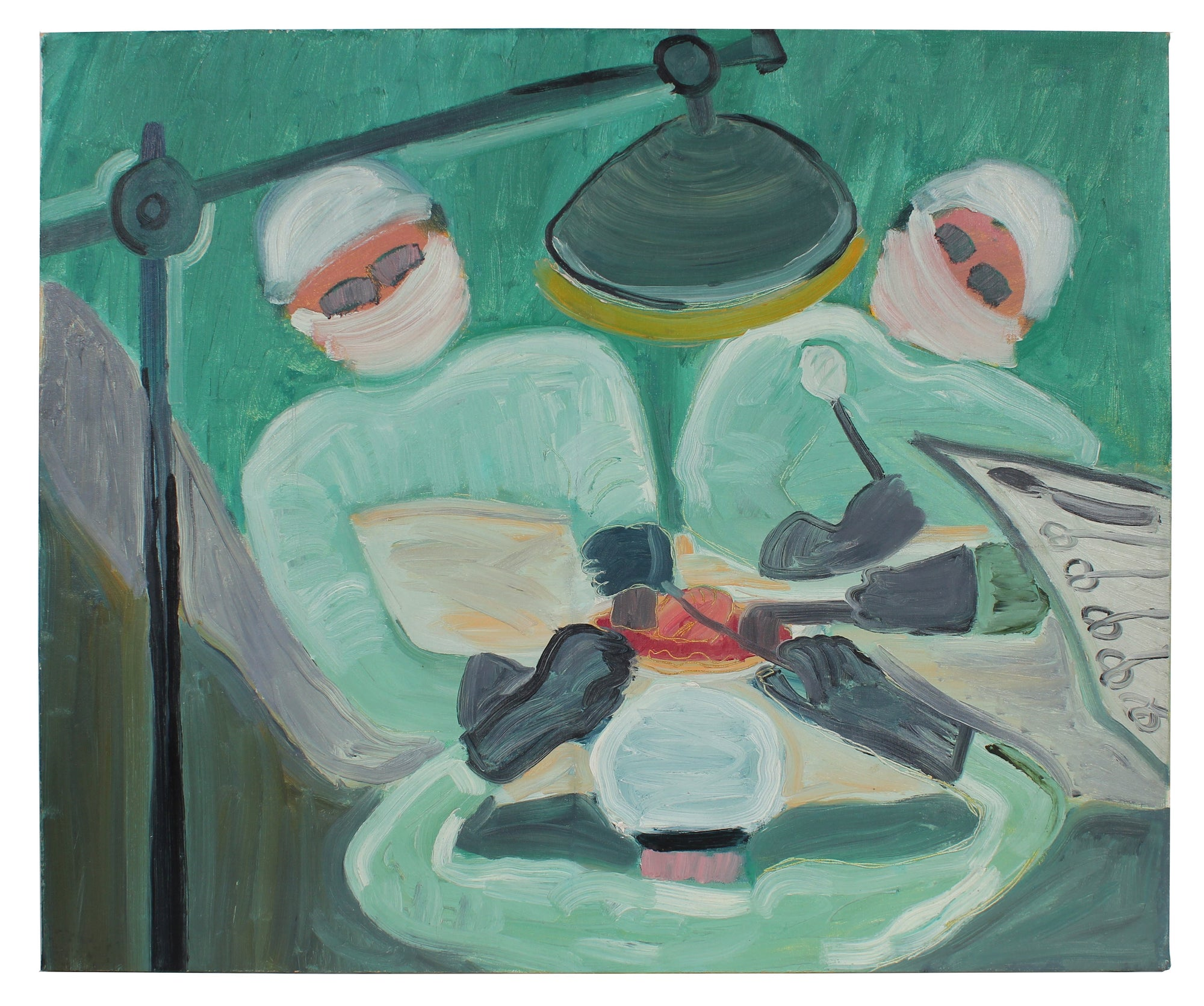 On the Operating Table<br>Late 1950s Oil<br><br>#A0257
