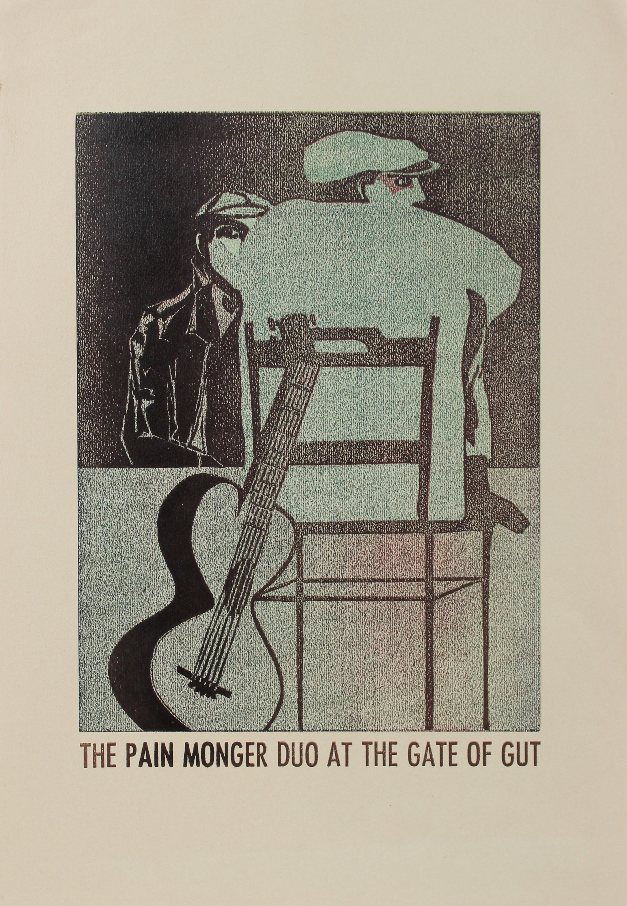<i>The Pain Monger Duo at the Gate of Gut</i><br>1960-70s Serigraph<br><br>#A0437