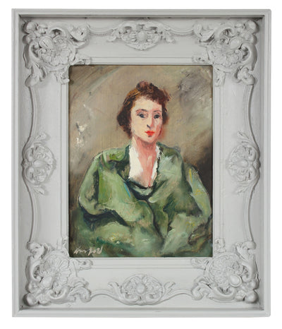 Portrait of the Artist's Sister, Yetta<br>Mid Century Oil Portrait<br><br>#A0685