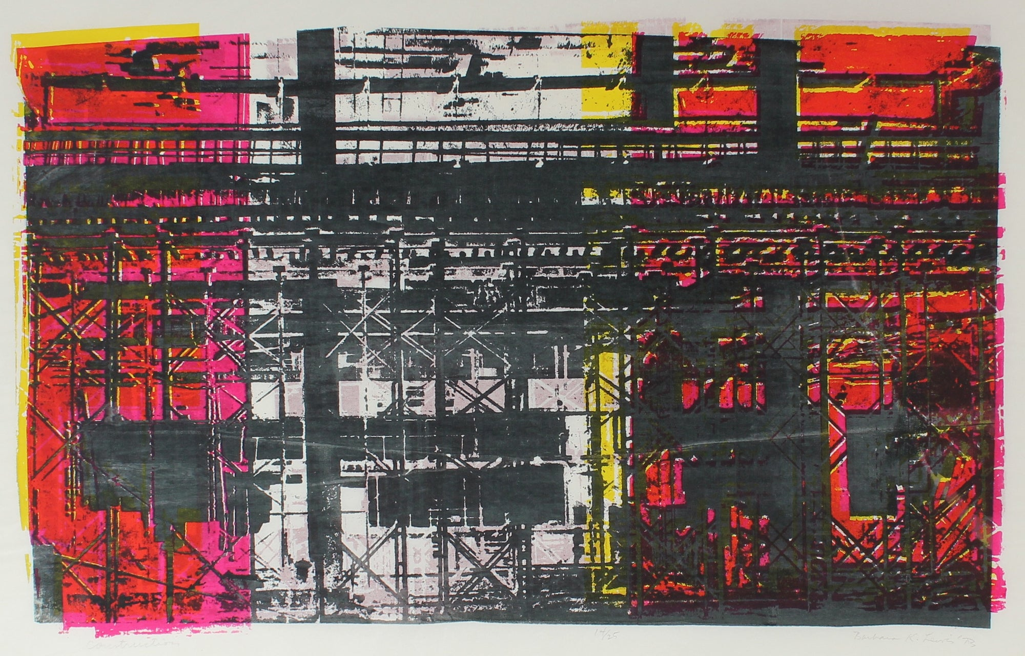 <i>Construction</i> <br>1973 Serigraph <br><br>#A0913