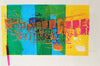 Colorful Vintage Abstracted City Detail <br>1970s Serigraph <br><br>#A0949