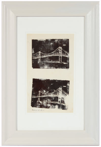 Double Image of a City Bridge <br>20th Century Woodblock <br><br>#A1478