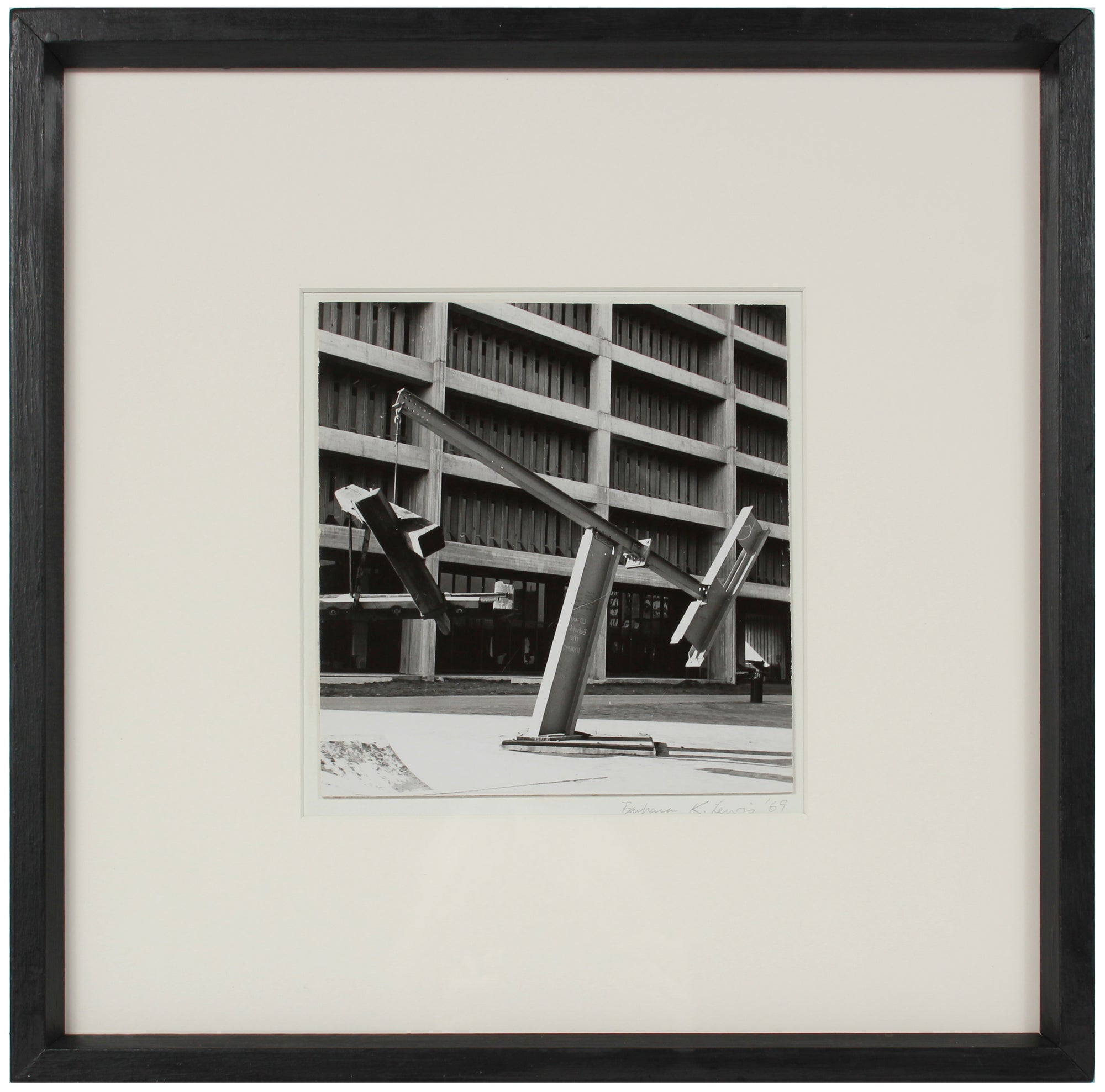Angular Industrial Sculpture <br>1969 Photograph <br><br>#A1515