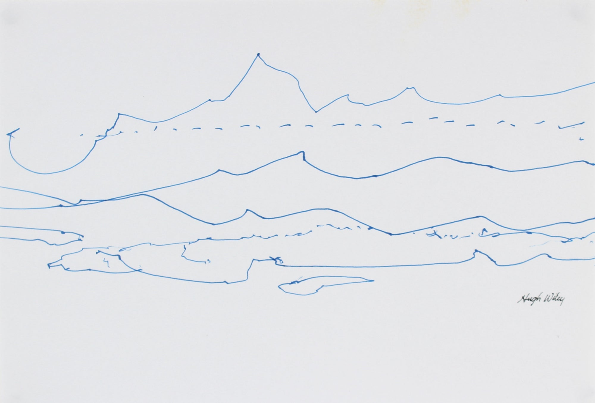 Abstracted Linear Landscape <br>2004 Ink <br><br>#A1795