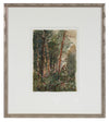 Abstracted Forest Scene<br>1960-80s Watercolor<br>Alexander Nazarenko<br><br>#A2963