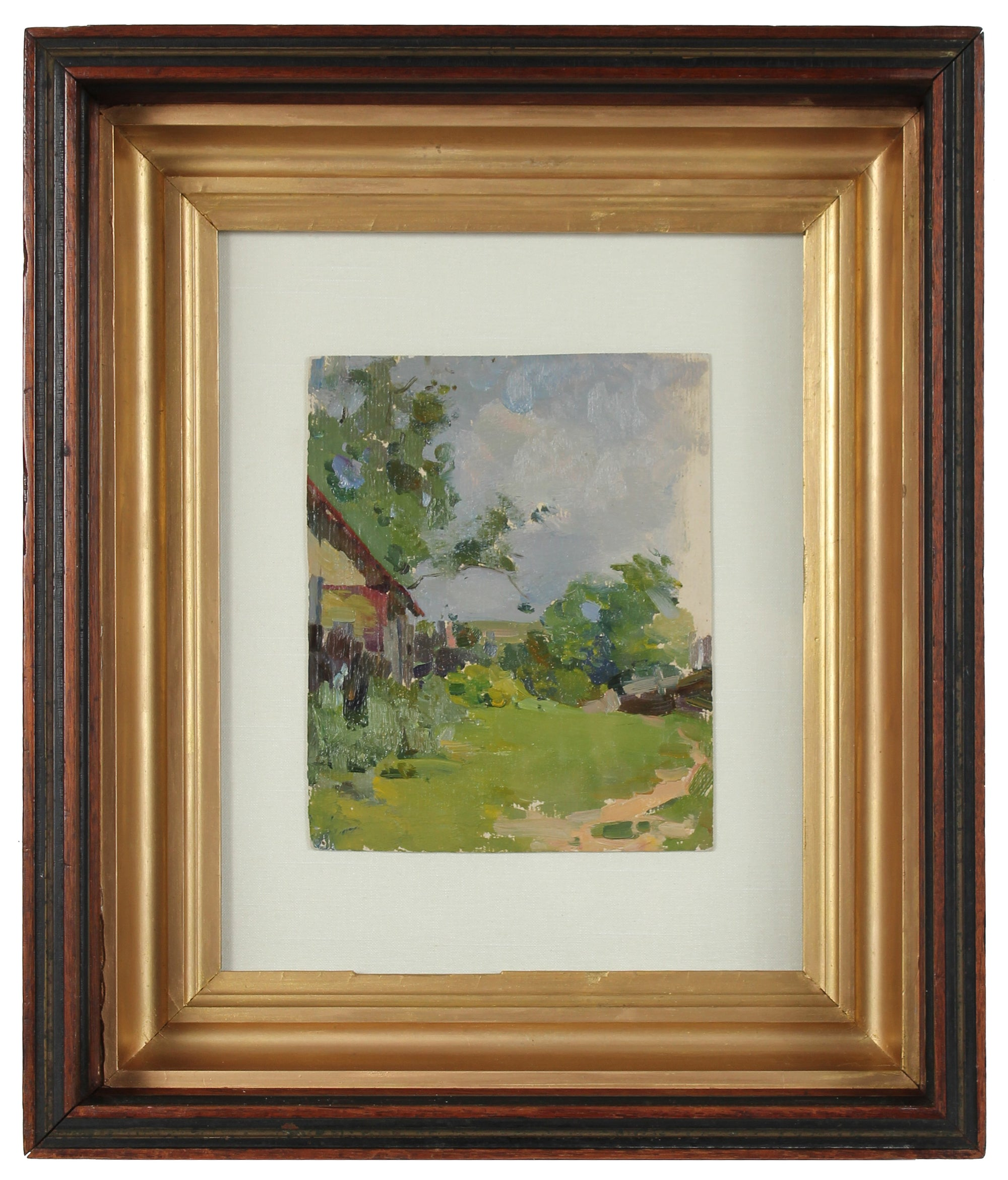 <i>Village House</i><br>1960-80s Oil<br>Vitkovski<br><br>#A2965