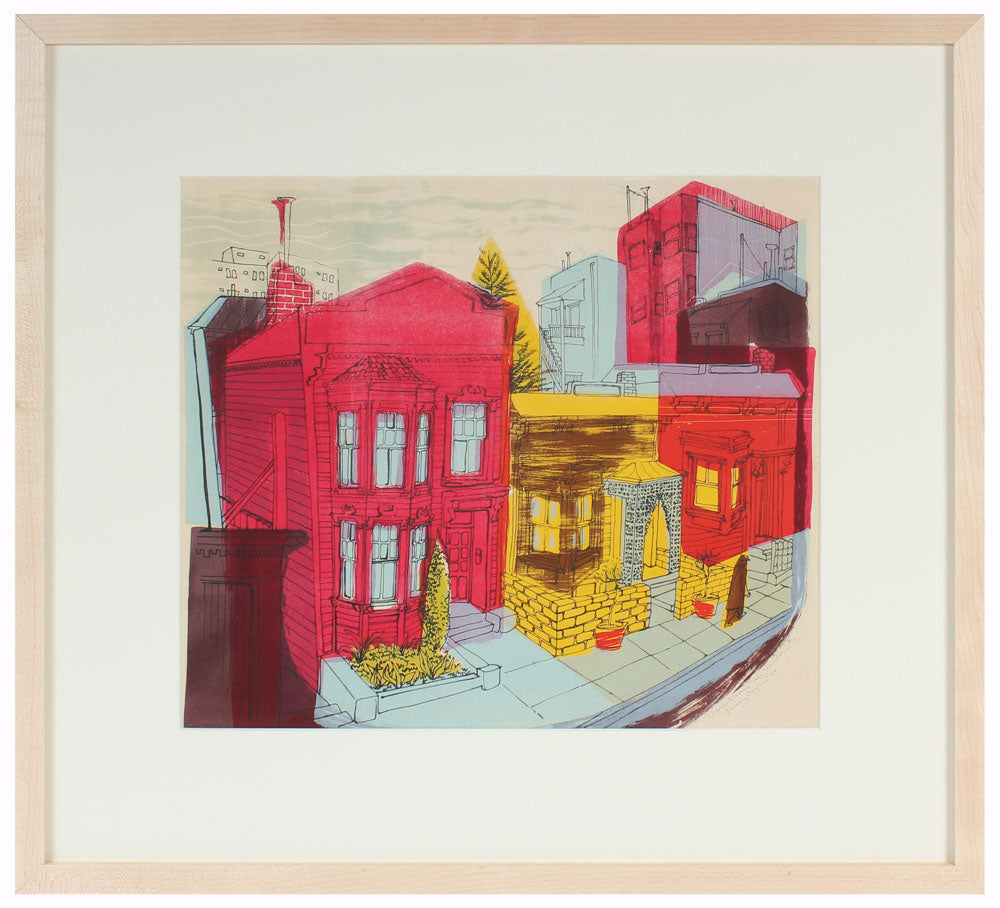 <i>View From My Window #1</i><br>1950 Stone Lithograph<br><br>#A4940