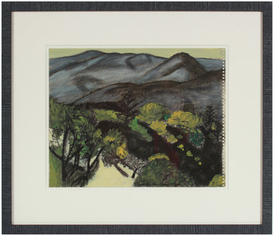 <i>Black Oaks Along the Orchard</i> <br>2010 Oil & Charcoal <br><br>#A5352