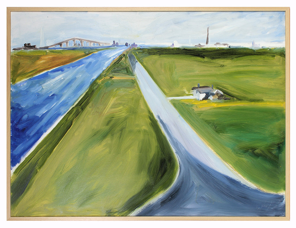 Bay Area Landscape with Bridge<br>2005 Oil<br><br>#A5614