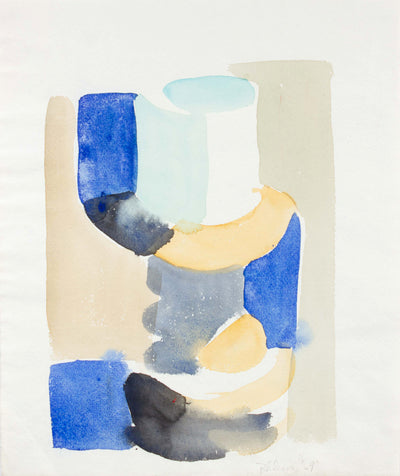 Muted Abstract Forms<br>1969 Watercolor<br><br>#A5938