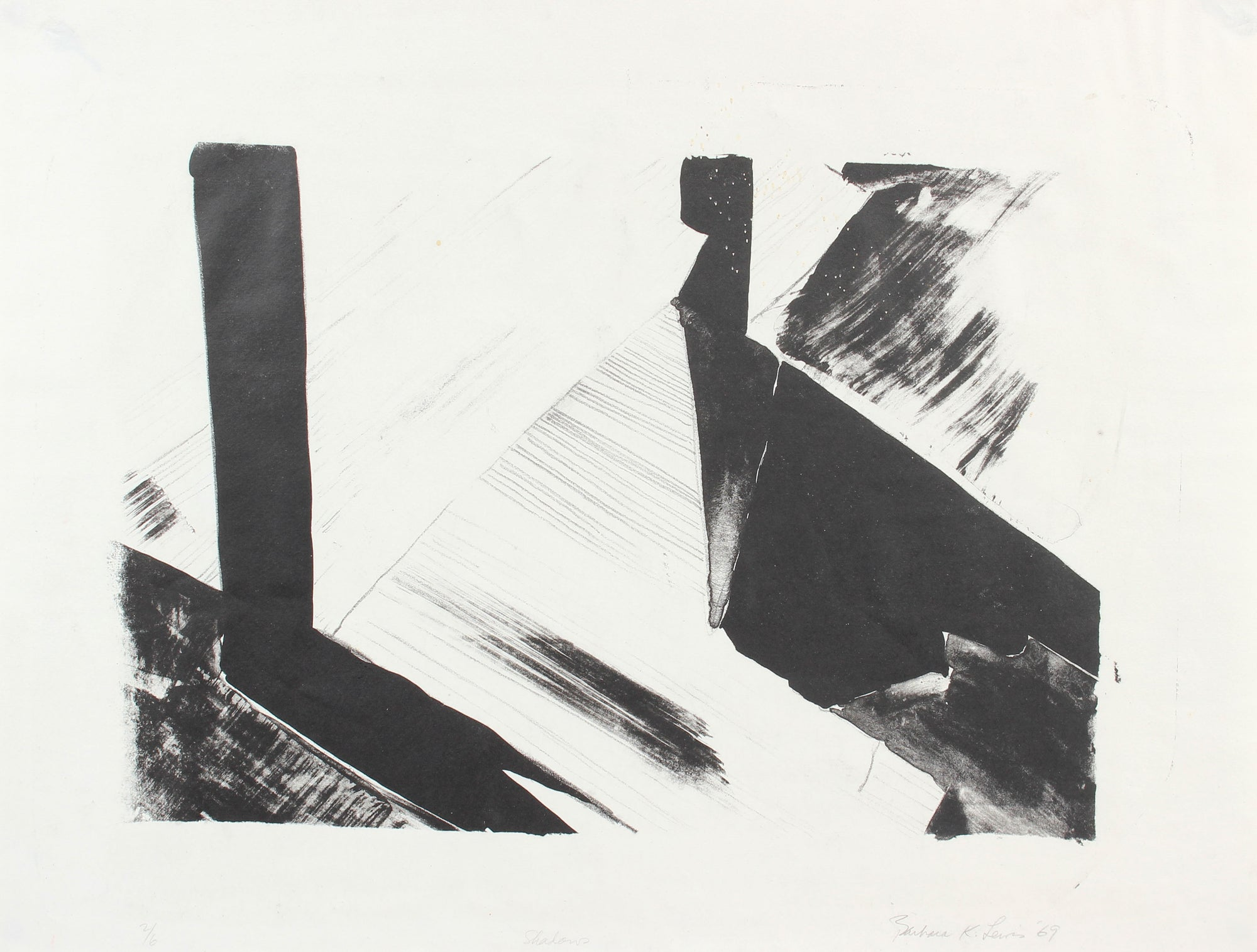 <i>Shadows</i><br>1969 Stone Lithograph<br><br>#A5963