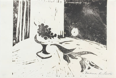 Abstract Monochromatic Still Life<br>Late 20th Century Linoleum<br><br>#A5974