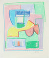 Pale Pastel Abstract Study<br>Mid - Late 20th Century Pastel<br><br>#A6186