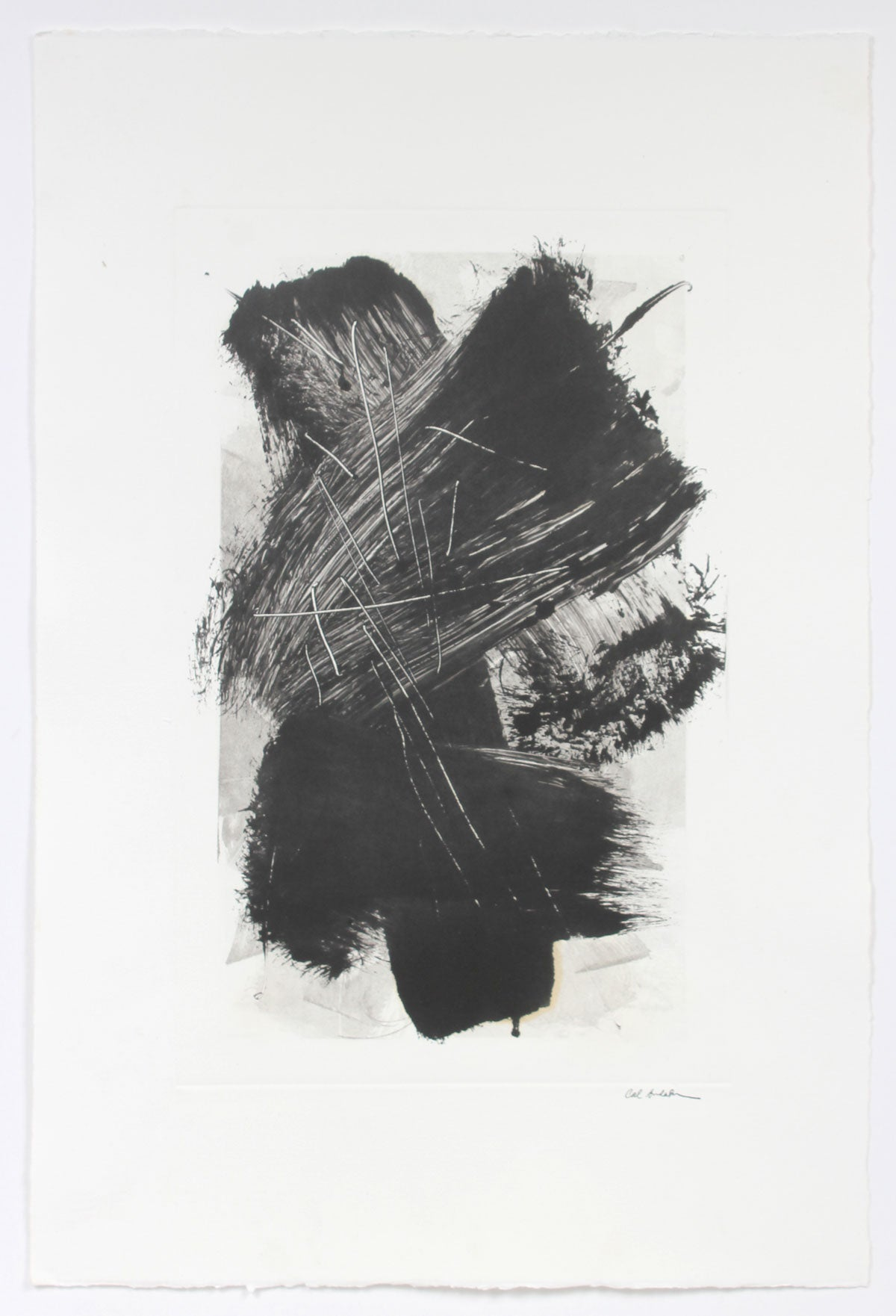 Monochromatic Dynamic Abstract<br>20th Century Monotype<br><br>#A6309