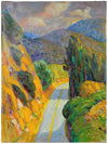Country Road Landscape<br>Late 20th Century Oil<br><br>#A6314